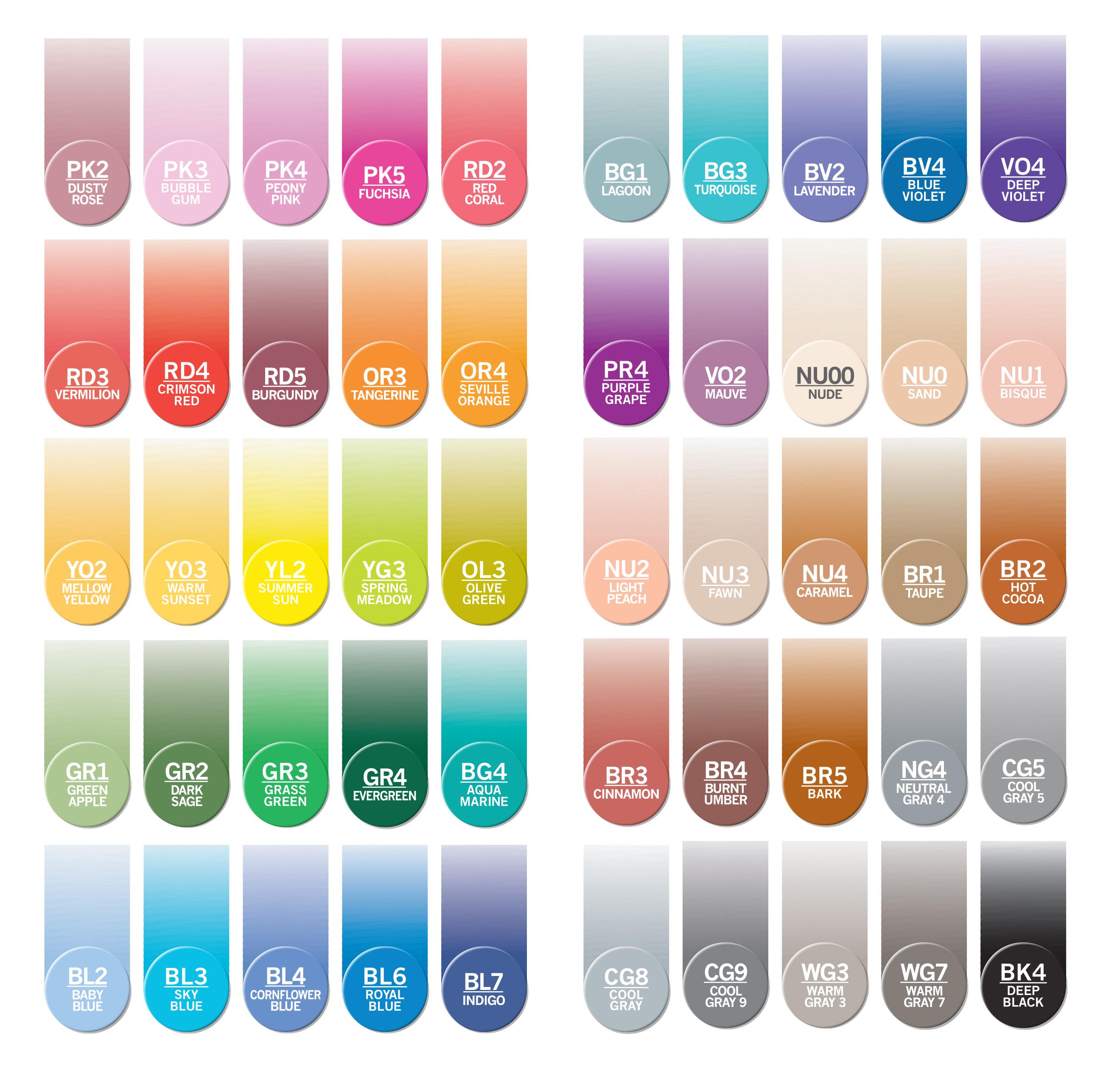 Chameleon Pens Farben