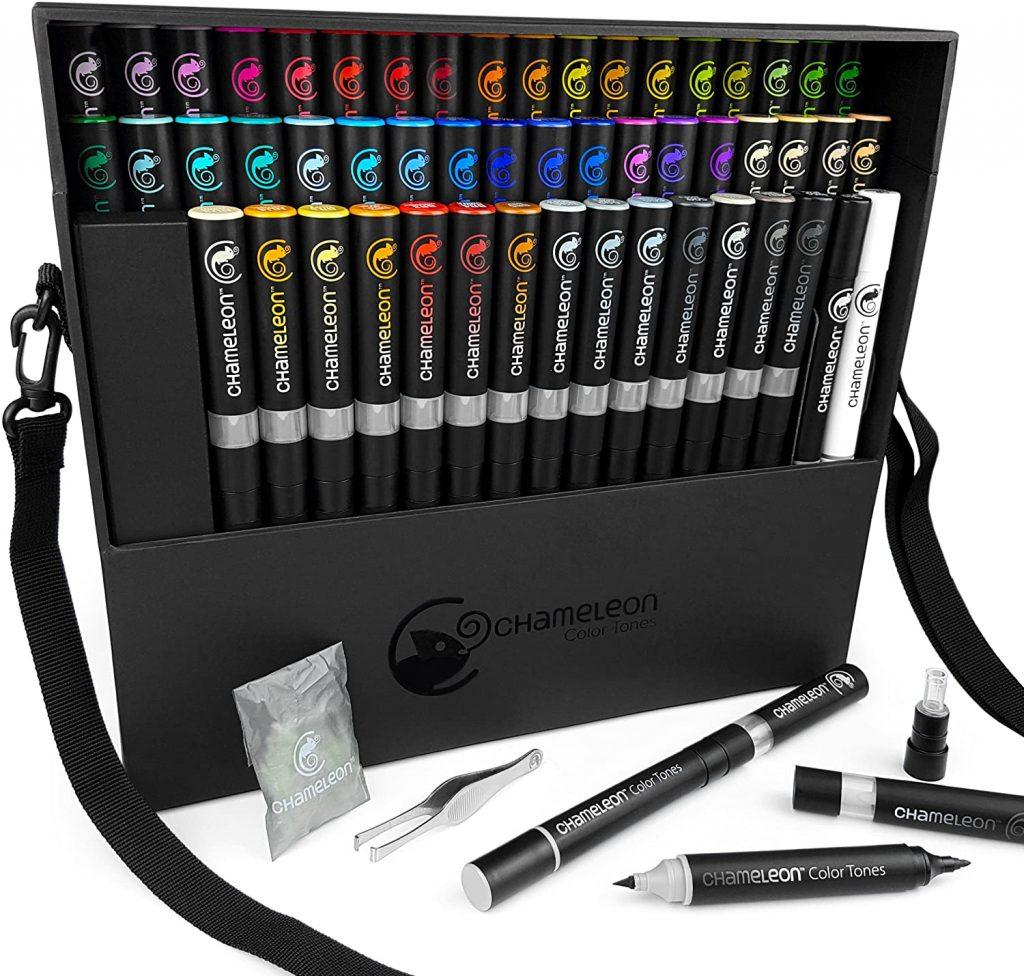 Chameleon Marker Set Deluxe mit 52 Stiften