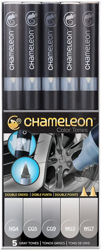 Chameleon Marker Set Grautöne