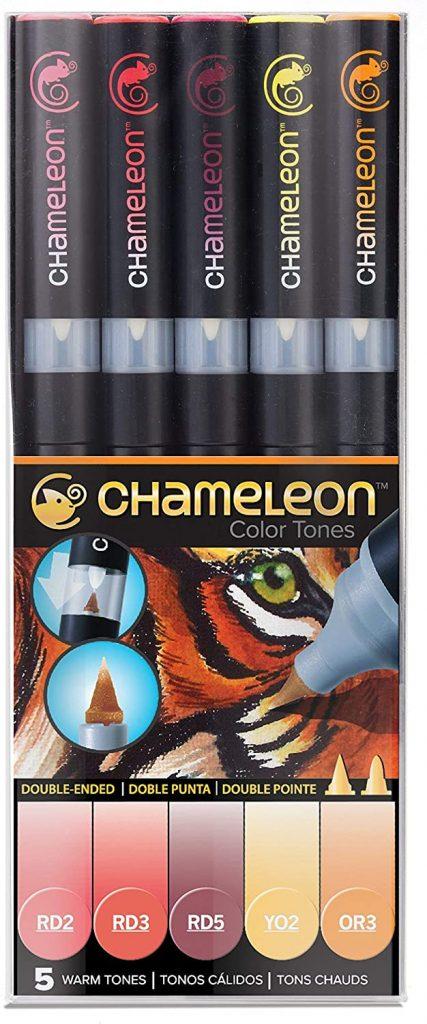 Chameleon Marker Set warme Töne