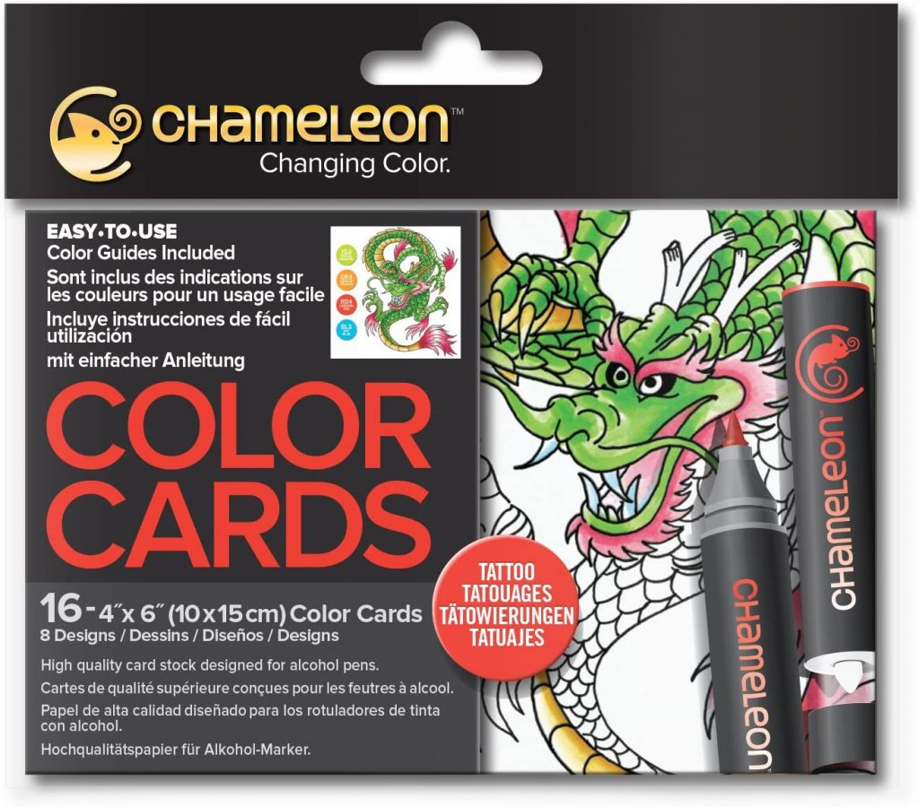 Chameleon Motivkarten Tattoo