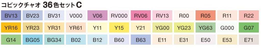 Copic Ciao Basis Set C 36er Set Farben