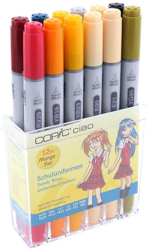 Copic Ciao Schuleuniformen Farben 12er Set
