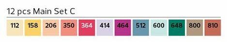 Stylefile Brush 12er Set Main C farben e1607456643403