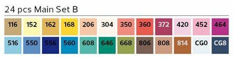 Stylefile Brush 24er Set Main B farben e1607456846316