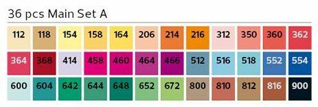 Stylefile Brush 36er Set Main A farben e1607456904488