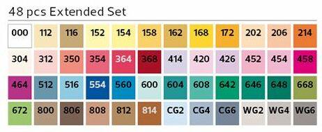 Stylefile Brush 48er Set Extended farben e1607456875371