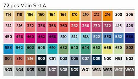 Stylefile Brush 72er Set Main farben e1607456928493