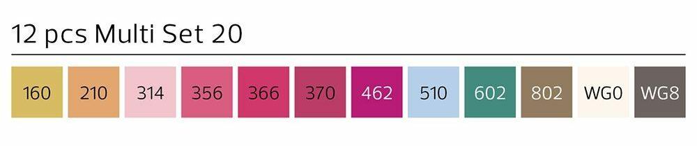 Stylefile Marker 12er Set Multi 20 A farben e1607456127519