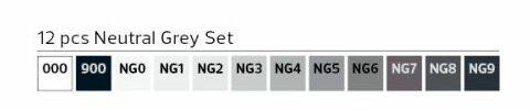 Stylefile Marker 12er Set Neutral Grey farben e1607456220202