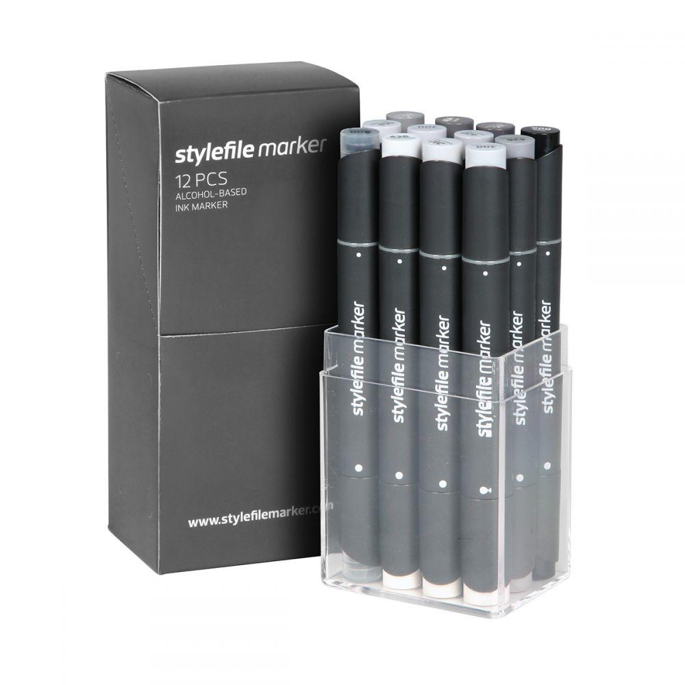 Stylefile Marker 12er Set Neutral Grey