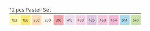 Stylefile Marker 12er Set Pastell farben e1607456256987