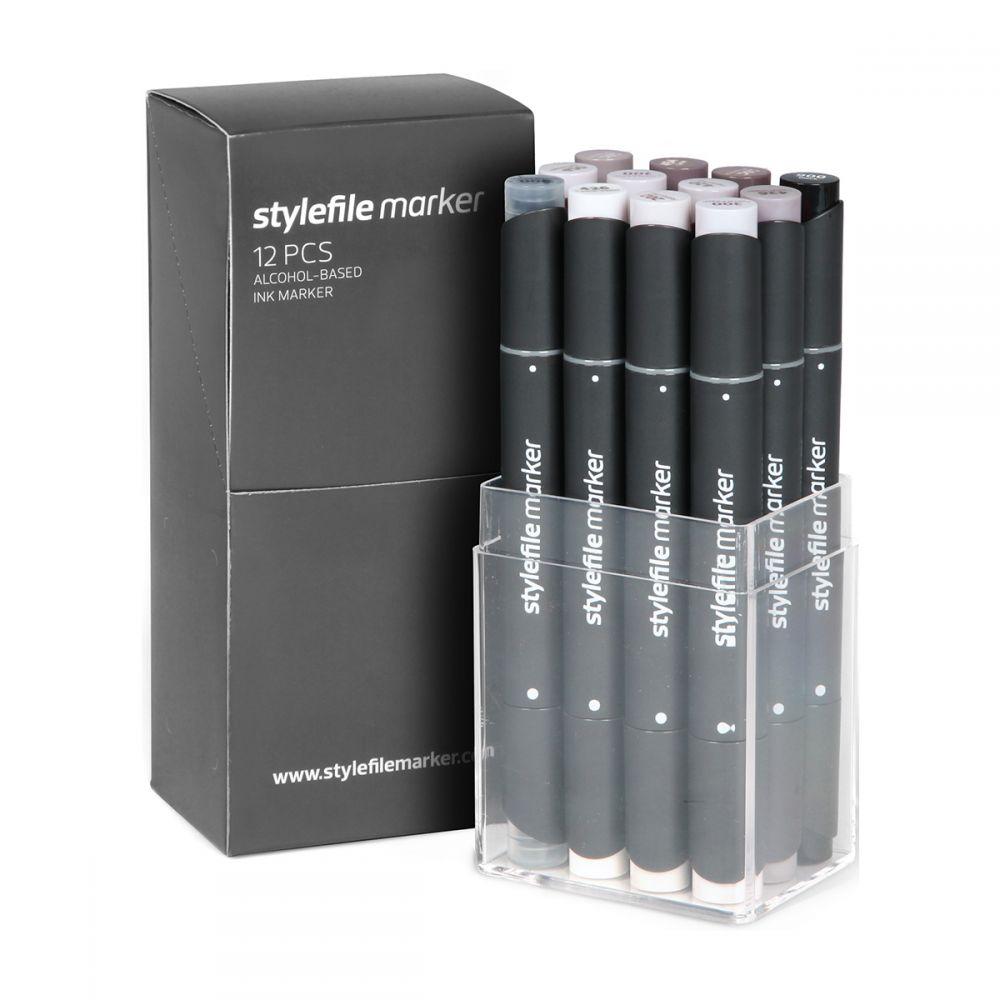 Stylefile Marker 12er Set Warm Grey 1