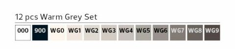 Stylefile Marker 12er Set Warm Grey farben e1607456291977