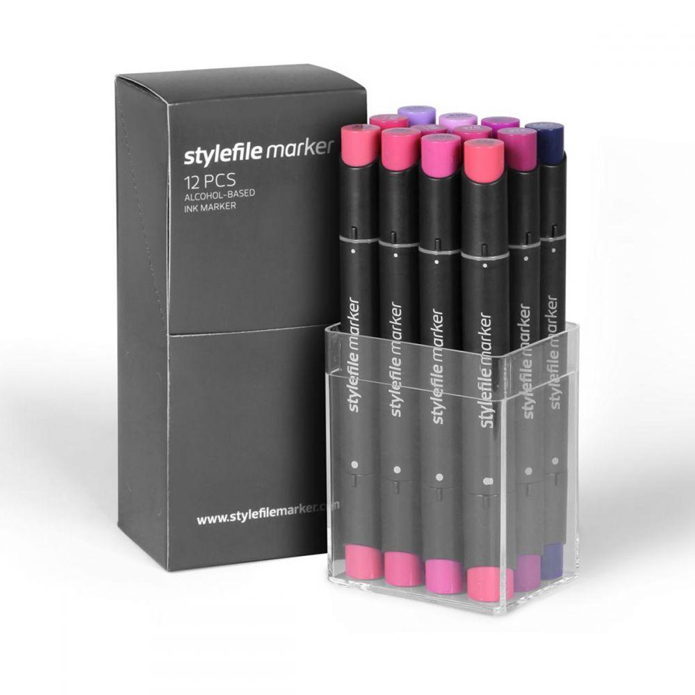 Stylefile Marker 12er Set wildberry
