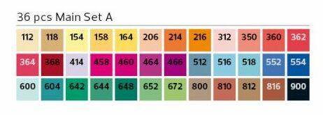 Stylefile Marker 36er Set Main A farben e1607456436895