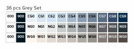 Stylefile Marker 36er Set grey farben e1607456513135