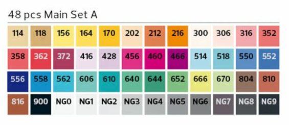 Stylefile Marker 48er Set Main A farben e1607456540847