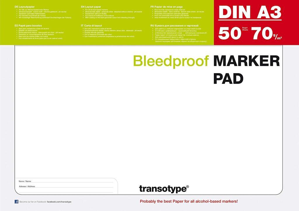 Transotype Marker Pad A3 50 Blatt