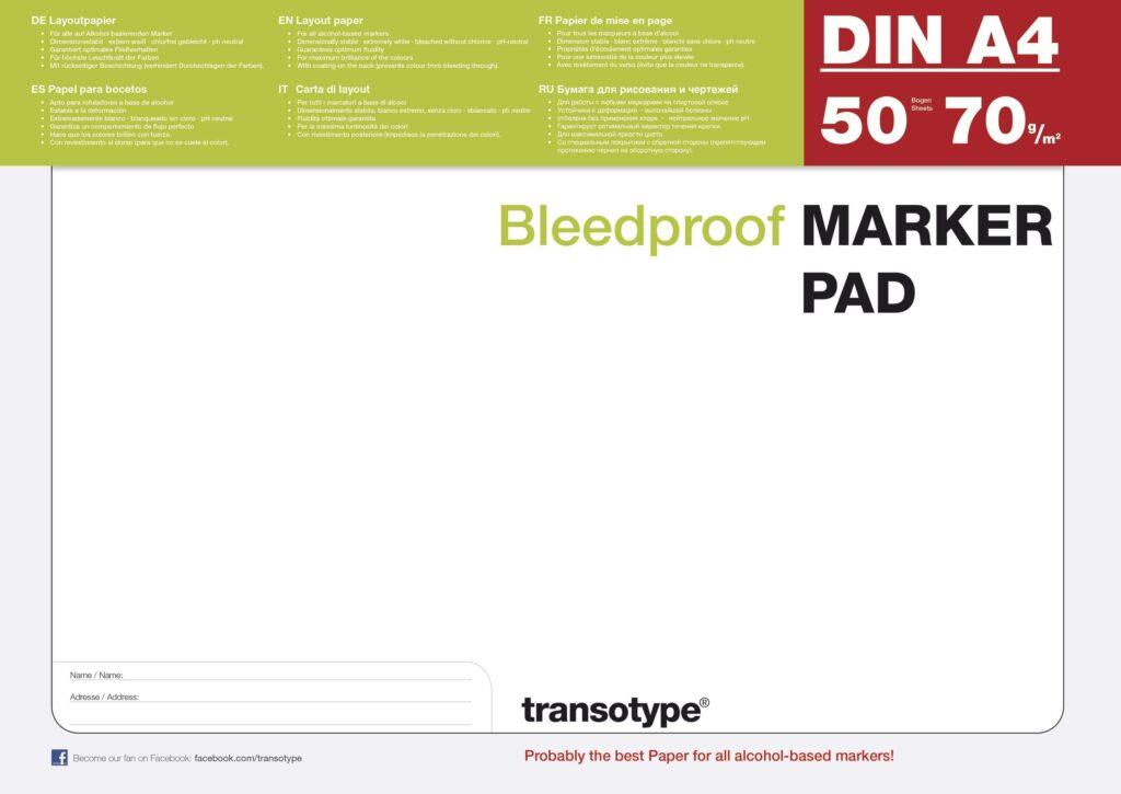 Transotype Marker Pad A4 50 Blatt